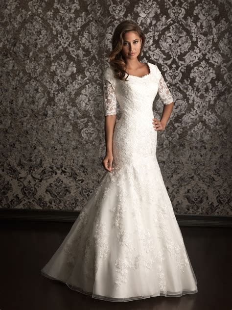 Wedding Dresses With Lace Sleeves by Lace Wedding Dress With 3 Per 4 Sleeves Ipunya