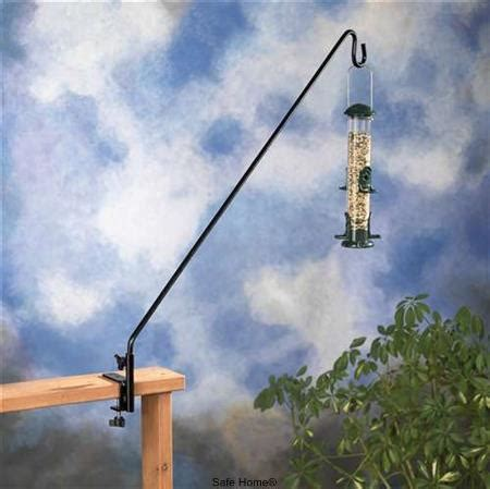 36 inch long black deck hook for bird feeders