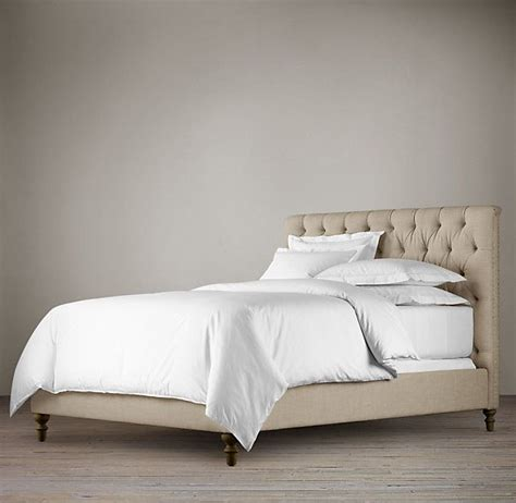 headboard without footboard chesterfield upholstered bed without footboard king