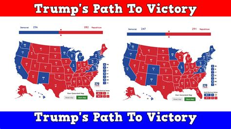 just not those kids in red states hillary clinton s 2016 electoral map trump s path to victory youtube