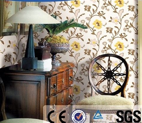 Wallpaper Dinding 10 Meter Rdws 24 jual wallpaper dinding bunga modern kuning mansion