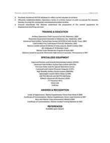 Military Resume Sample military resume