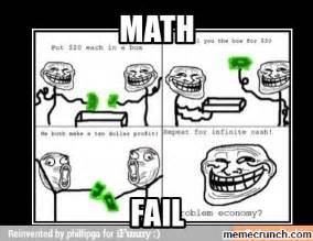 Math Meme Jokes - math fail