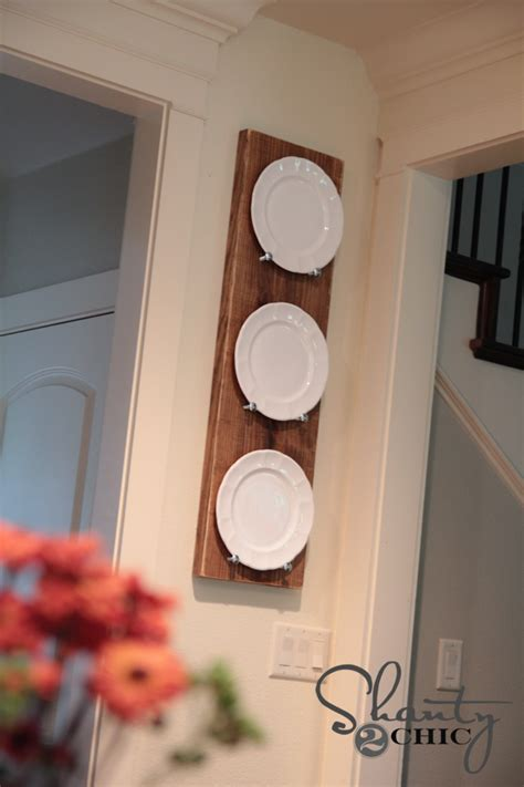 Diy Plate Rack by Diy Plate Rack For 10 Shanty 2 Chic