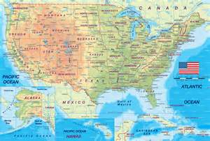 Physical Map Of Usa by Physical Usa Mapsof Net
