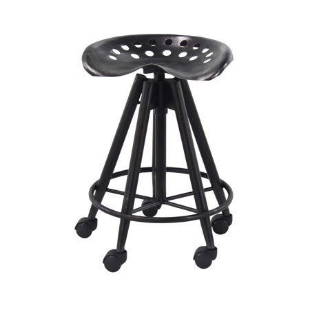 Stools With Wheels Walmart by Decmode 23 Inch Modern Metal Adjustable Bar Stool With