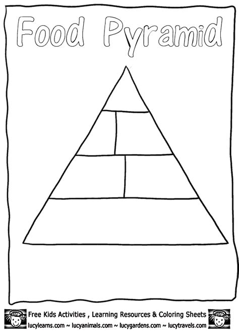 food pyramid coloring page kindergarten printable food pyramid for kids free clipart