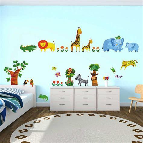 Wandtattoo Kinderzimmer Putz by Wandsticker Wandtattoo Dschungeltiere Tropen Wandsticker