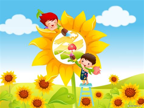 kids wallpaper cute kids cartoon background free kid desktop wallpaper