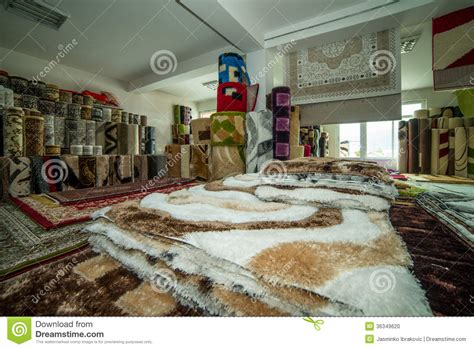 Carpet Rug Store Rolled Rugs Inside A Rug Store Stock Photo Image 36349620