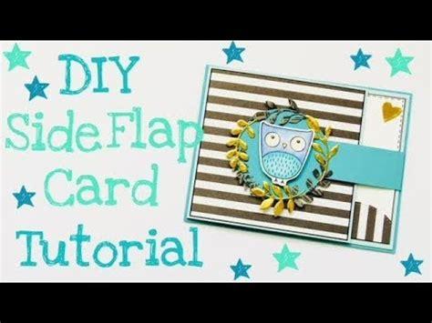 carding tutorial german side flap card tutorial deutsch youtube