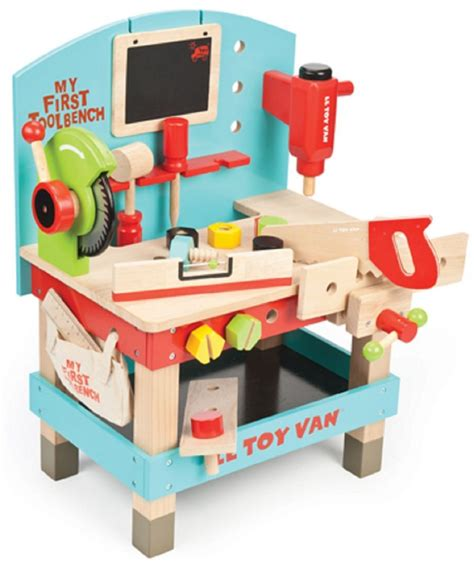 le toy van my first wooden tool bench kids workstations