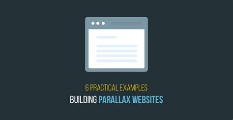 parallax website tutorial video 6 practical exles for building parallax websites