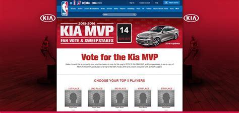 Kia Sweepstakes 2015 - nba com kiamvpfanvote kia mvp fan vote sweepstakes 2016 sweepstakes lovers
