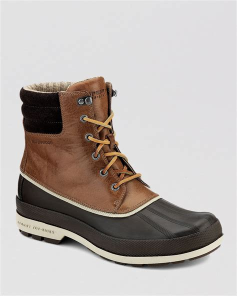 sperry boots mens sperry top sider waterproof cold bay boots in brown for