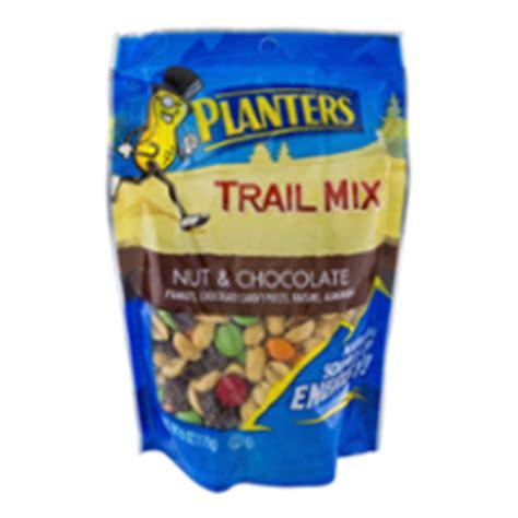 planters trail mix nut chocolate 6oz bag garden grocer