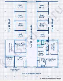 Barn Plans With Living Quarters Floor Plans by Barn Plans 8 Stall Horse Barn Design Floor Plan