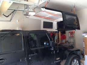 cheap and easy top hoist jkowners jeep