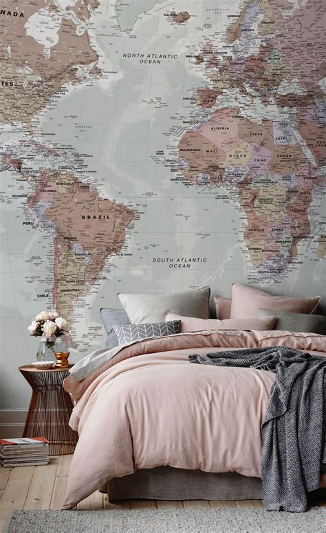 Classic World Map Wallpaper Wall - best 25 world map wall ideas on world