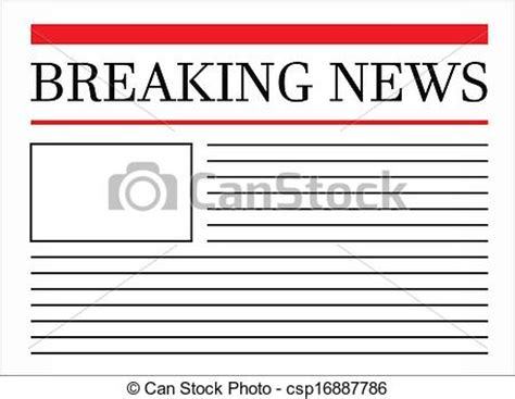 headline news online latest news headlines breaking breaking news headline in newspaper vector illustration