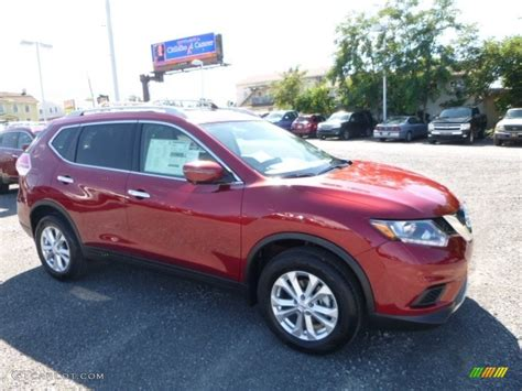 red nissan rogue 2016 cayenne red nissan rogue sv awd 115838627 photo 2