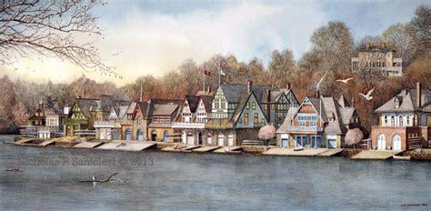 boat house philadelphia boathouse row 7 art print nicholas santoleri realism artist