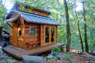 tiny cabin homes serenity now tiny house in the forest on a hill small