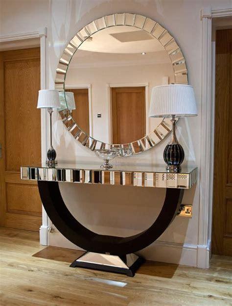 Quartz Console Table Quartz Black Mirrored Top Console Table And Matching Mirror Shropshire Design