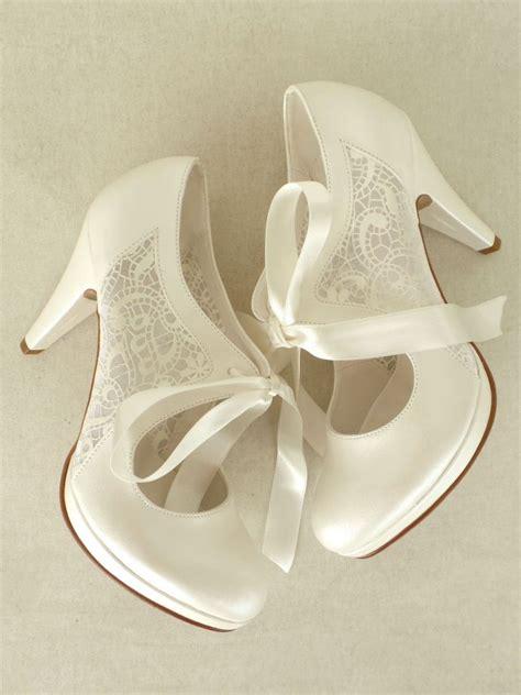 Brautschuhe Vintage Flach by Dantelli Fiyonklu Gelin Ayakkabıları 10cm Topuklu Gelin