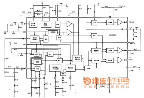 what is the definition integrated circuit an5342k picture definition enhancing integrated circuit basic circuit circuit diagram