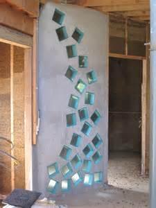 mur en brique de verre salle de bain inspirations avec