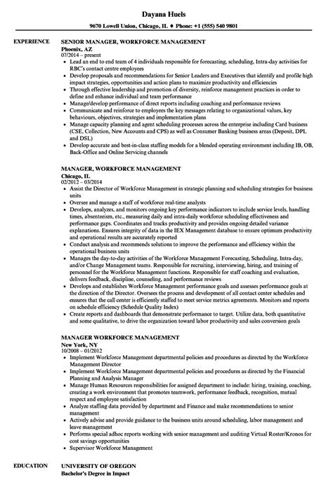 manager workforce management resume sles velvet