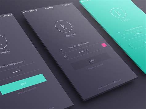 design inspiration app iphone login sign up inspiration for mobile apps muzli design