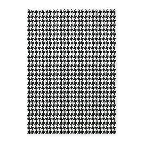 black and white accent rug black and white houndstooth 5 x7 area rug by organicpixels