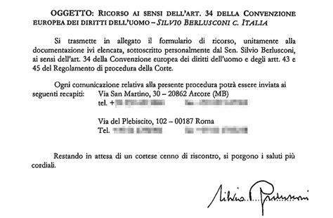 legge severino testo foto berlusconi ricorso alla corte europea legge
