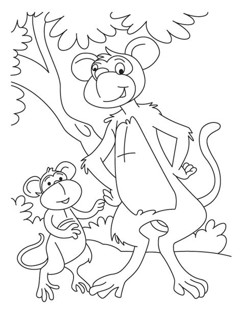 jungle monkey coloring page jungle monkey colouring pages page 2