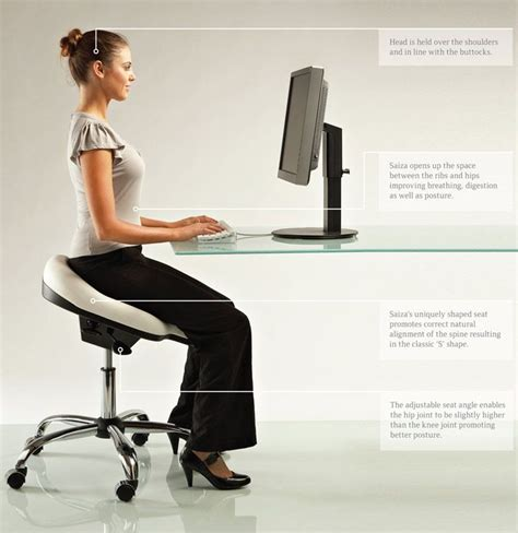 better posture sitting at desk after the ergonomically designed office chair