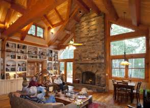 Log Cabin Kitchens Small mountain retreat timber frame residential project photo