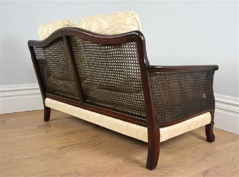 3 piece settee 3 piece mahogany geometric bergere cane suite couch settee