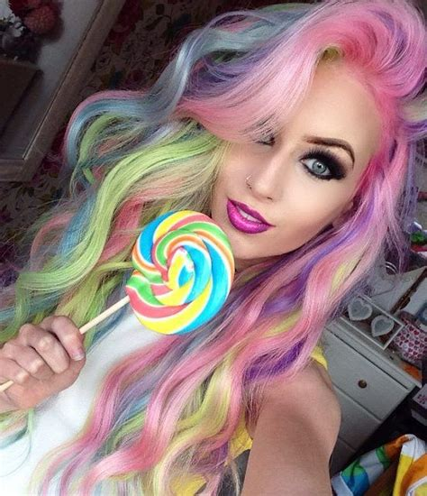 pastel rainbow hair amy the mermaid with pastel rainbow hair one day some