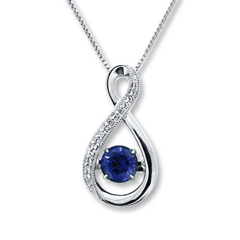 sterling silver sterlingjewelers colors in rhythm lab created sapphire
