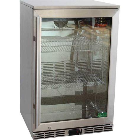 Glass Door Bar Fridges Rhino All Stainless Alfresco Energy Efficient Outdoor Glass Door Bar Fridge