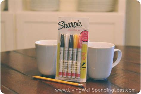 sharpie mug diy marker pen design how to do it leannes blog how to make cute diy sharpie mugs living well spending less 174