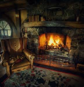 cozy fireplace at the cabin make mine rustic