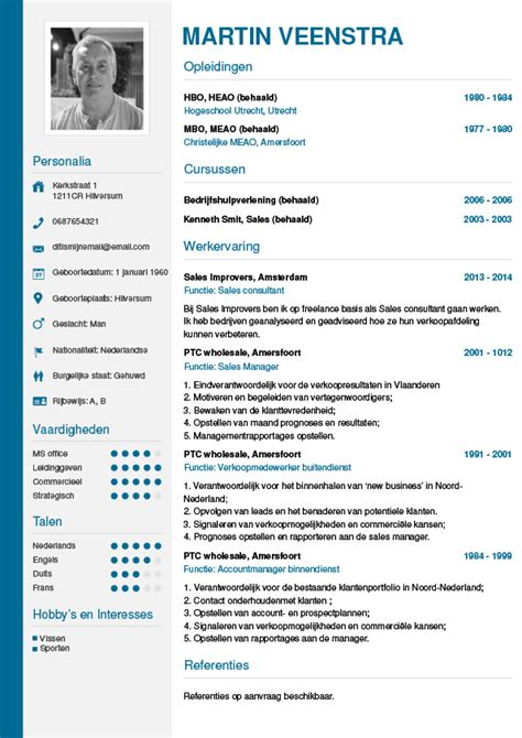Cv Template Met Foto Cv Maken In 3 Stappen Je Curriculum Vitae Downloaden