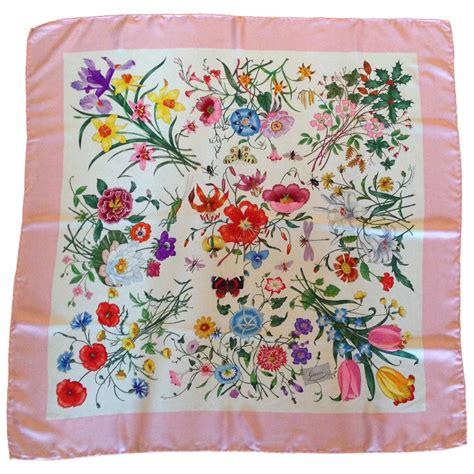 gucci pattern ai vintage gucci scarf pink flora pattern at 1stdibs