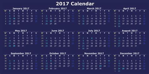 printable 12 month calendar 2017 printable 2017 calendar of 12 months 2017 calendar