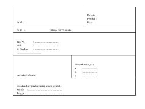 format buku ekspedisi intern penanganan surat masuk