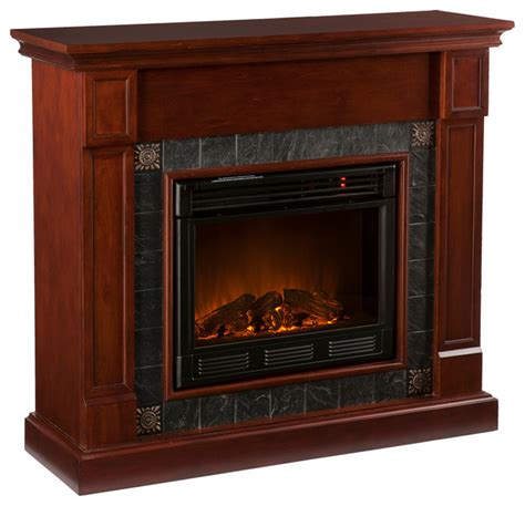tavola electric fireplace cherry traditional