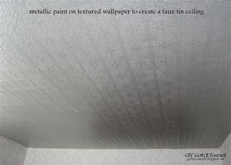 Faux Tin Ceilings by Giy It Yourself Create A Faux Tin Ceiling With